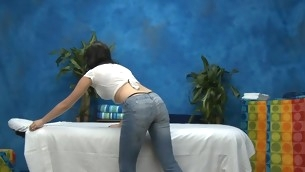 Hawt eighteen year old chick gets fucked hard outlander behind by her palpate therapist