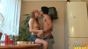 Legal Age Teenager is moaning wildly as this hottie gives stud a hard ramrod riding