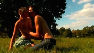 In force Age Teenager prick-teaser looks very excited with the fiery sex in open air
