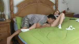 Horny legal age teenager in fine finds a rod able of drilling her again