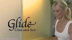 Ava together with Uma's awesomely wet together with deceptive massage sensation