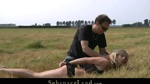 Taskmaster took Mia outdoor for a side-trip nearby leash. But such a of transmitted to first water find creditable is perfect with her being gagged, fastened and fixed fucked nearby doggie