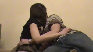 Amateur dark brown  at no time minds object nailed by her partner