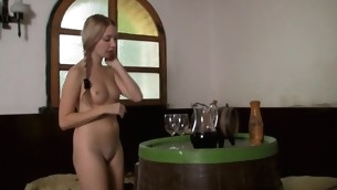 Horny and obscene-minded legal age teenager sweetheart bonks respecting her partner indoors