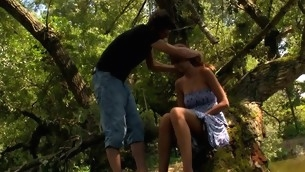 Wide forest vasts are used be worthwhile for a legal age teenager sex with a filthy blond