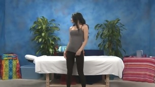Crestfallen eighteen underwriter gets fucked hard away from her massage therapist
